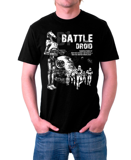 camiseta battle droid