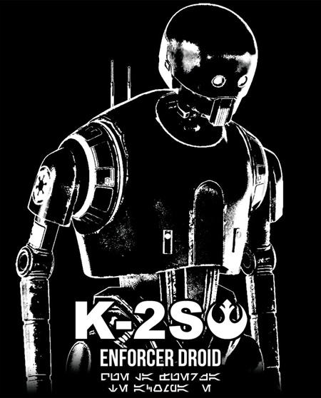 Camiseta Droid K-2SO