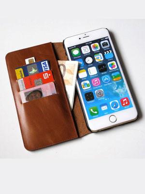cartera piel iphone