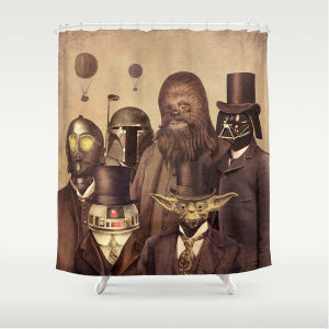 cortinas baño star wars