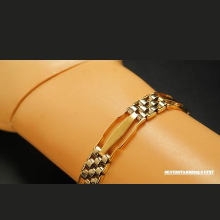 pulsera eslabones de oro