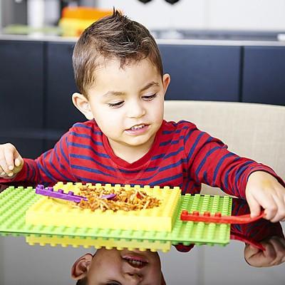 vajilla infantil lego