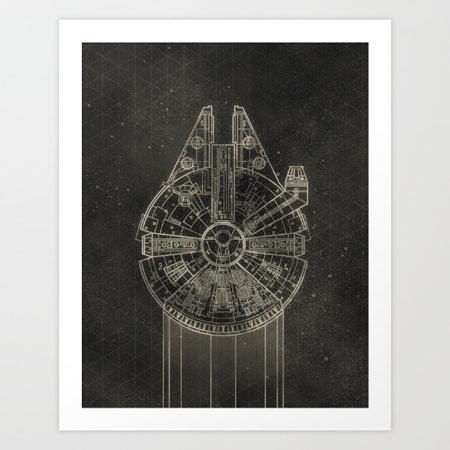 x wing fighter print