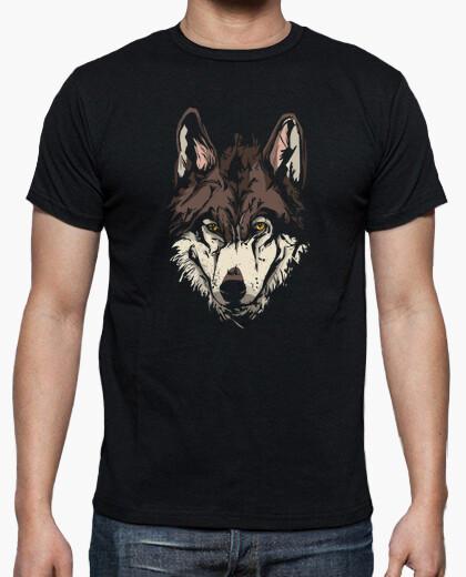 camiseta cara lobo