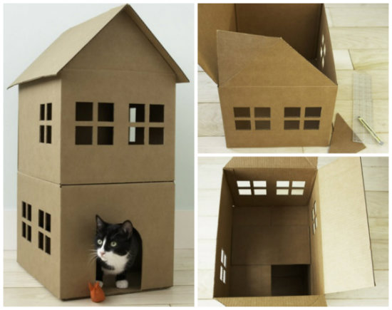 Castillo casero para gatos