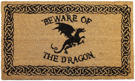 felpudo beware of the dragon