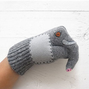guantes animales