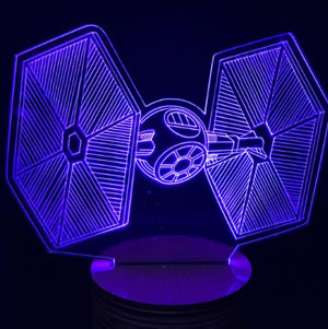 lampara colores star wars