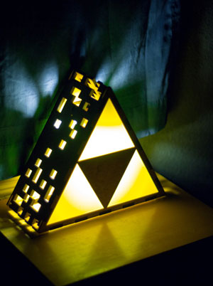Lámpara Zelda Triforce