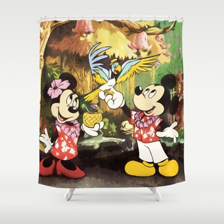cortina mickey y minnie mouse