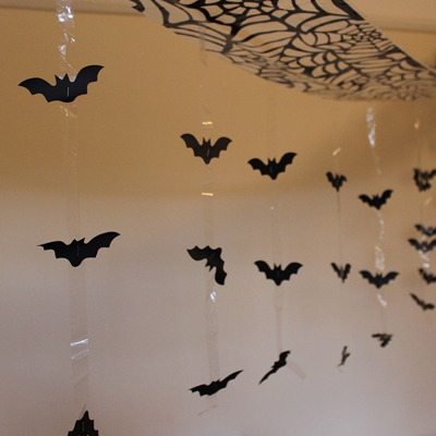 decoracion murcielagos halloween