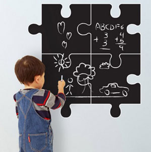 pizarra puzzle pared