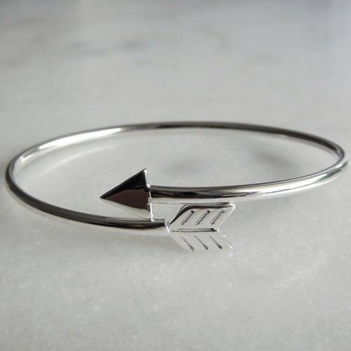 pulsera plata flecha