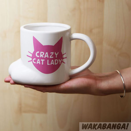 taza cat lady