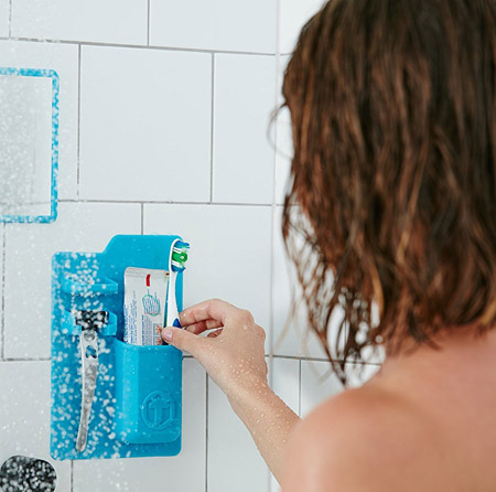 recipiente accesorios baño